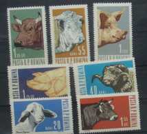 1962 Romania Domesticated Animals / Haustiere -7v MNH** MiNr. 2117 - 2123 Cows, Pigs, Sheep, OX - 1948-.... Republiken
