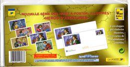 "Enveloppes + Cartes Lot De 3 Prêt à Poster  -  Lettre Monde Entier 20g, ""Héros D'aventure"" - Postal Stamped Stationery"