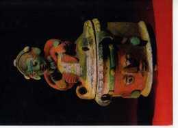 75 PARIS  Musee De L'Homme  Bol Tripode ,couvercle Decore D'un Personnage Assis Guatemala Quiche Nebaj Civilisation Maya - Musea