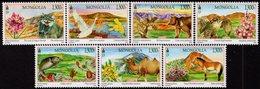 Mongolia - 2019 - Mongolian Beautiful Landscape - Flora And Fauna - Mint Stamp Set - Mongolia