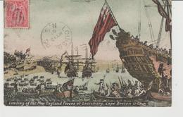 CPA LANDING OF THE NEW ENGLAND FORCES AT LOUISBURG, CAPE BRETON 1743 (CANADA) - Cape Breton