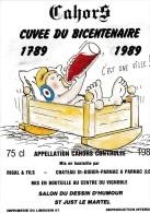 Etiquette Vin BD HENNEQUIN Guy Salon Dessin Humour Et Caricature St Just Le Martel 1989 - Tischkunst