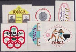 Tonga - Surcharged 6 V 1978 M/S - MNH - Tonga (1970-...)