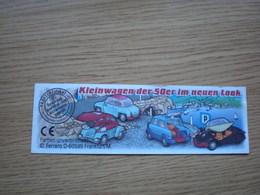 Kinder Ferrero Kleinwagen Der 50 Er Im Neuen Look - Kinder & Diddl
