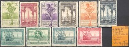 [845721]TB//*/Mh-c:27e-Espagne 1929 - N° 367/79, 10 Timbres De La Série , Bateaux, Transports - 1889-1931 Kingdom: Alphonse XIII