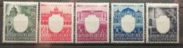 Pologne 1943 / Yvert N°123-127 / ** / 3ème Anniversaire Du Parti Du Travail - 1939-44: 2. WK