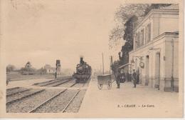CPA Craon - La Gare (animation Avec Train) - Craon