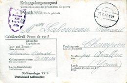 Correspondance De Prisonniers De Guerre - Famille Laboureau - Champien (89) Datée Du 19.6.44 - Kriegsausgaben
