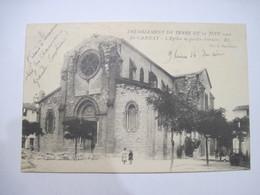 CPA 13 St-CANNAT Tremblement De Terre Du 11 Juin 1909 L'Eglise En Partie Détruite  TBE - Other Municipalities