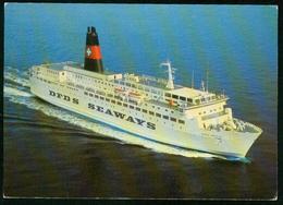 Ax DFDS Seaways, M.S. Dana Anglia, Esbjerg - Harwich - Service | 1.7.1982 Sent To Denmark - Ferries