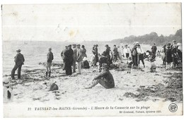 Taussat Les Bains L' Heure De La Causerie Sur La Plage - France