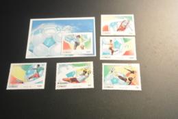 K29344 -set And Bloc  Used  Congo - Olympics Football - San Francisco - 1990 – Italië