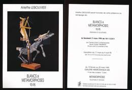 Arlette LEBOUVIER - Blancs & Métamorphoses - Peintures Et Sculptures Exposition 1995  Courseulles Sur Mer - Autres Collections