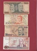 Brésil 4 Billets Dans L 'état Lot N °2----(152) - Brazil