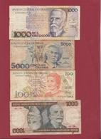 Brésil 4 Billets Dans L 'état Lot N °3----(153) - Brazil