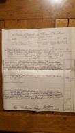 AGENCE GENERALE DE POMPES FUNEBRES  PARIS 17e ET 19e ANNEE 1925 DECES VVE DESCHAMPS NEE ROUSSEAU  28 X 26 CM - 1900 – 1949