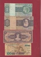 Brésil 4 Billets Dans L 'état Lot N °6-----(156) - Brazil