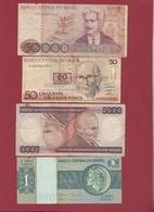 Brésil 4 Billets Dans L 'état Lot N °7-----(157) - Brazil
