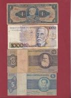 Brésil 4 Billets Dans L 'état Lot N °8-----(158) - Brazil