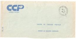 CCP CHEQUES POSTAUX CH 20 Enveloppe Ob   PARIS GARE PLM PROVINCE *  Ob 10 30 1978 - Manual Postmarks