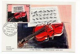 Carte Maximum 1965 - Le Violon Rouge De Dufy - YT 1459 - 76 Le Havre - Maximum Cards
