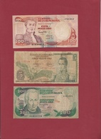Colombie 3 Billets Dans L 'état Lot N °2-----(175) - Colombie