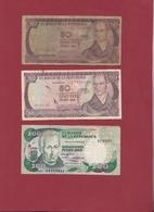 Colombie 3 Billets Dans L 'état Lot N °3-----(176) - Colombie