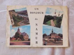 "Belgium  Postcard ""Namur Multiview Bus"" To France - Coal Slogan - Non Classés"