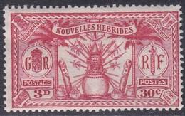 New Hebrides, Scott #48, Mint Hinged, Idols, Issued 1925 - French Legend