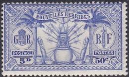 New Hebrides, Scott #50, Mint Hinged, Idols, Issued 1925 - French Legend