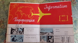 Soviet  Document - AEROFLOT Flight Plan  - 1950s - Historische Documenten