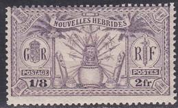 New Hebrides, Scott #53, Mint Hinged, Idols, Issued 1925 - Leggenda Francese