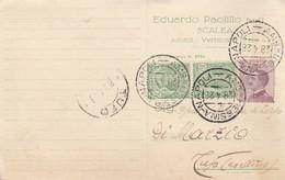 Scalea. 1928. Annullo Ambulante AMB MESSINA - NAPOLI, Su Cartolina Pubblicitaria, Con Testo. - Storia Postale