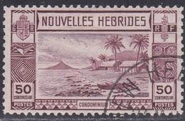 New Hebrides, Scott #62, Used, Beach Scene, Issued 1938 - French Legend