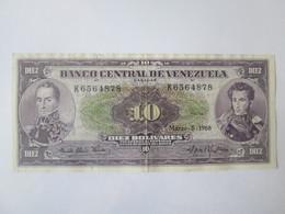 Rare! Venezuela 10 Bolivares 1968 Banknote In Good Conditions - Venezuela