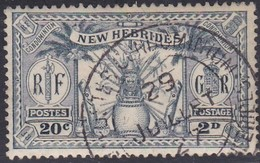 New Hebrides, Scott #43, Used, Idol, Issued 1925 - English Legend