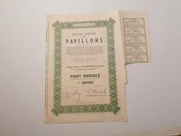 Titre Belge : SA Des Pavillons - Shareholdings