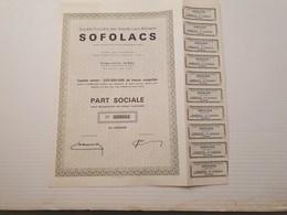 Sofolacs à Kindu, Congo - Shareholdings