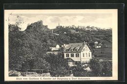 AK Hohenstein, Gasthaus C. Kessler Mit Burgruine - Zonder Classificatie