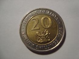 MONNAIE KENYA 20 SHILLINGS 1998 - Kenia