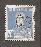 Perforado/perfin/perforé Argentina YT No 284/304/319  General José De San Martin  CSCerveceria Schlau S.A. - Argentina