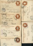 Mexico 6 Postal Cards MEPSI #PC110 Type I Used To Germany 1902-09 - Messico