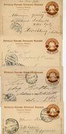 Mexico 4 Postal Cards MEPSI #PC110 IIA RIO HONDO ESTADO + ISLA DEL CARMEN 1903-4 - Messico