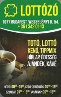 GAMBLING * FOOTBALL POOL * LOTTERY SHOP * FOUR LEAF CLOVER * BUDAPEST * COFFEE CUP * CALENDAR * Lottozo 2014 * Hungary - Kalenders