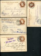 Mexico 4 Postal Cards MEPSI #PC110IIB Used Oaxaca + Guanajuato To Germany 1905-8 - Messico