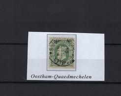 N°30 (ntz) GESTEMPELD Oostham-Quaed-Mechelen COBA € 25,00 - 1869-1883 Leopold II