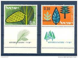 Israel - 1961, Michel/Philex No. : 247/248,  - MNH - *** - Full Tab - Israel