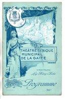 """PROGRAMME . THÉÂTRE LYRIQUE DE LA GAÎTÉ . """" LA FILLE DU TAMBOUR-MAJOR """". Mlle ALICE BONHEUR . OFFENBACH - Réf. N° 31P - - Programma's"""