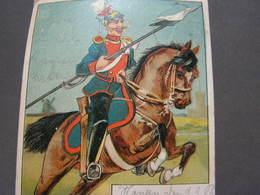 Herliche Reiter Litho Hanau 1902 - Künstlerkarten