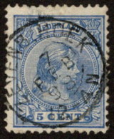 "NTH SC #41a U 1891 Princess Wilhelmina W/SON ""ZEVENB: HOEK/7 FEB 93/12-4N"" CV $0.25 - Used Stamps"